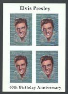 Guyana, 1994, Elvis Presley, Singer, Hologram, Silver, MNH Imperforated Sheetlet, Michel 4528 Type I - Guyana (1966-...)