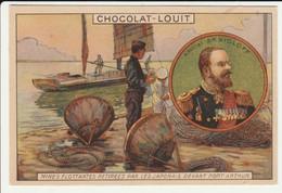 CHROMO   Chocolat LOUIT   GUERRE RUSSO JAPONAISE  RUSSIE  AMIRAL SKRIDLOFF MINES PORT ARTHUR  MARINE FORCES NAVALES - Louit