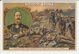 CHROMO   Chocolat LOUIT   GUERRE RUSSO JAPONAISE  RUSSIE  GENERAL HASEGAWA FORT TA-KOU-CHAN  ARMEE - Louit