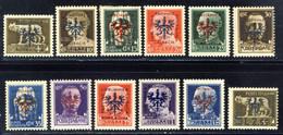 1944- Francobolli D'Italia Soprastampati - 12 Valori Della Serie - Nuovi Con Gomma Integra MNH** (il 15 - 30 - 35c. Mlh) - Occ. Allemande: Lubiana