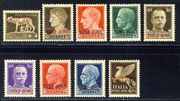 1941 - La Serie Di 8 Valori + Aerea 50 C. - Nuovi Mlh* (il 50 C. MNH**) - Isole Jonie