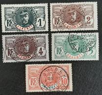 DAHOMEY    Général Faidherbe   N° Y&T  18 à 22  (o) - Usados