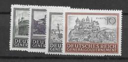 1943 MNH General Government MI 113-6 Postfris** - Gobierno General