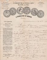1861 VERRERIE De La VIEILLE LOYE  Par MONTBARREY (39) - J. TUMBEUF Et NEVEU - 1800 – 1899