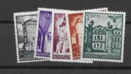 1941 MNH General Government MI 66-70 Postfris** - Gobierno General