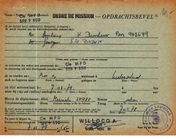 Opdrachtsbevel BPS 10      Kaart 977 - Correo Militar