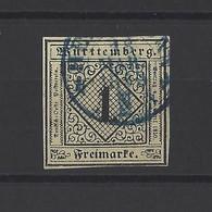 ALLEMAGNE WURTEMBERG.  YT N° 1  Obl  1851 - Wuerttemberg