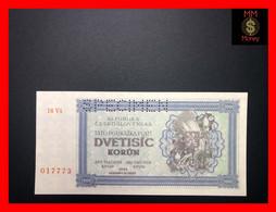 """CZECHOSLOVAKIA   2.000  2000  Korun 1945   P. 50 A S  """"perforated Specimen""""  *rare*    UNC - Czechoslovakia"""
