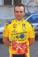 PHOTO CYCLISME JARNO VANFRANCHEM TEAM VLAANDEREN 2002 1998 - Radsport