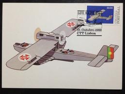 PORTUGAL, Maximum Card, « Philatelic Exhibition », « Aviation », 1982 - Cartes-maximum (CM)