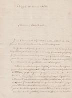 1864 THIZY (69) L.A.S. COUCHON Adressée à M. DOUHET, Notaire à AUZANCES (23) Relative à Une Vente - Documentos Históricos