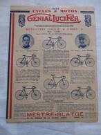 DEPLIANT CYCLES ET MOTO 1935 GENIAL LUCIFER - Ciclismo