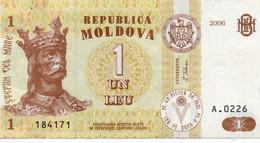 MOLDAVIA - 1 LEU  2006  P-8g    XF++AUNC - Moldova