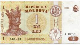 MOLDAVIA - 1 LEU  2010  P-8h.1    XF++ - Moldova