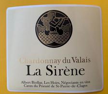 19013 - La Sirène Chardonnay Du Valais Albert Biollaz St-Pierre-de-Clages - Other