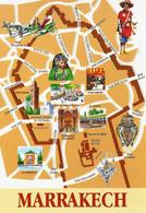 *CPM Grand Format - MAROC - MARRAKECH - Plan De La Ville - Marrakech