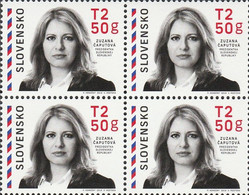 Slovakia, MNH, 2019 Zuzana Čaputová, President Of The Slovak Republic, Politician, Block Of Four - Ongebruikt