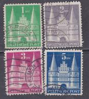 Allemagne Bizone N° 65 / 68  O Monuments, La Série Des 4 Valeurs Type II Oblitérées, TB - Zona Anglo-Americana