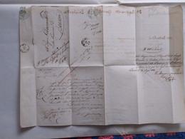 1860 DA GENOVA A BRESCIA AL SIGNOR GOVERNATORE LETTERA DEL 3° REGGIMENTO GRANATIERI DI LOMBARDIA CON TIMBRI - Lombardo-Veneto