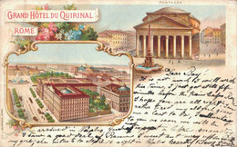 H2803 - ITALIE - ROME - Grand Hôtel Du Quirinal - Bars, Hotels & Restaurants