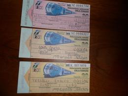 3  Biglietti TRENO  2 Abbonamenti Mensile 1 Settimanale - Europe