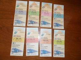 8  Biglietti TRENO  Con FASCIA KM. DIVERSE - Europe