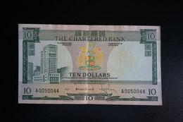 (M) 1970-75 HONG KONG OLD ISSUE, THE CHARERED BANK 10 DOLLARS #A0050044 - Hong Kong