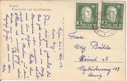 Allemagne Carte Singen Pour La Suisse 1952 - Lettres & Documents