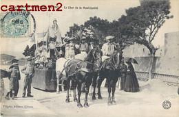 GIVORS CAVALCADE 26 MAI 1907 LE CHAR DE LA MUNICIPALITE DILIGENCE ATTELAGE FETE 69 RHONE - Givors