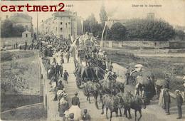GIVORS CAVALCADE 26 MAI 1907 LE CHAR DE LA JEUNESSE DILIGENCE ATTELAGE FETE 69 RHONE - Givors