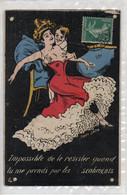 Cartolina Francese HUMOR - 6 - VIAGGIATA - Humor