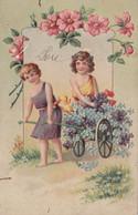Bella Cartolina In Rilievo Illustrata Viaggiata 1907 - 1900-1949