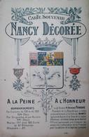 G 13  Carte Patriotique De Nançy  Voyagée  Défauts - Oorlog 1914-18