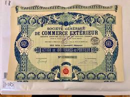 Sté  Gle  De  COMMERCE  EXTÉRIEUR  ( MADAGASCAR )------Action  De  100 Frs - Unclassified
