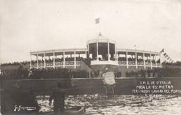 GENOVA 1905 - IL RE POSA LA PRIMA PIETRA PER I NUOVI LAVORI DEL PORTO - NON VIAGGIATA - Genova (Genoa)