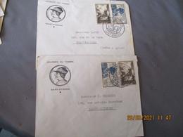 Lot De 2 Lettre Illustree Louis 11 , Saint Etienne Journee Timbre Timbre Louis 11 Et Oradour - 1921-1960: Periodo Moderno
