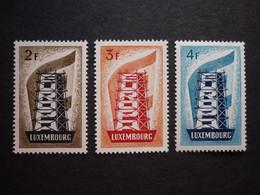 Luxemburg Luxembourg CEPT, 1956, Mi 555-557 **, TOP!! (KW: 240,00€) - Nuevos