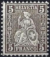 Switzerland 1881 - Mi 22 - YT 50 ( Sitting Helvetia ) MNH** - Nuovi