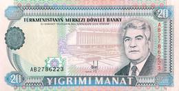 Turkmenistan 20 Manat, P-4a (1993) - UNC - Turkmenistan