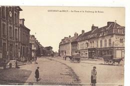 CPA  GOURNAY En BRAY   La Poste ,et Le Faubourg De Rouen - Gournay-en-Bray