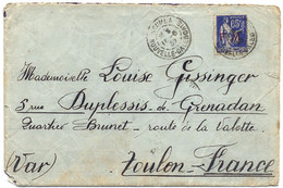 1939 FM 65c TYPE PAIX SUR LETTRE DE NOUVELLE CALEDONIE OBLITERE NOUMEA 16-6 39 POUR LA FRANCE - 1921-1960: Periodo Moderno