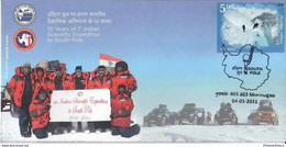 India 2021 First Indian Scientific Expedition To South Pole Cover , Polar Region, Scientist , Map, RARE (**) Inde Indien - Antarctic Expeditions