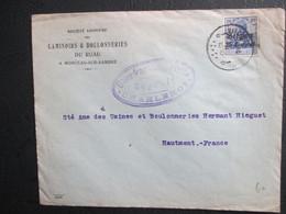 OC 4 Op Brief Verstuurd Uit Marchienne-au-Pont - Hoofding Laminoirs De Ruau - Monceau-sur-Sambre - Prühfung - [OC1/25] Gen. Gouv.
