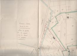 Istres (13 Bouches Du Rhone)  Grand  Extrait Du Cadastre Sur Papier Timbré Délimitant 2 Propriétés (M1903) - Other Plans