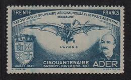 Vignette -  Ader - Cinquantenaire - Satory - ** Neuf Sans Charniere - Aviation