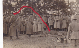 ( 68 ) - ENSISHEIM Erdtelegraphie Ohne Dracht Télégraphe Construction  Carte Photo Allemande 1° Guerre KLASSE !!!! - Dannemarie
