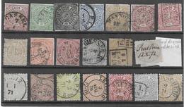 DR/NDP - Selt./gest. Lot Aus 1868/69 - Sicher Fundgrube! - North German Conf.