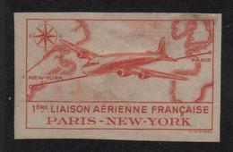 Vignette - 1ere Liaison Paris New York - Neuf Sans Gomme - Luchtvaart