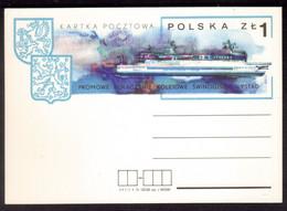 EW73    Poland, Pologne 1974 - Polish Train Ferry To Sweden, Swinoujscie - Ystad Stationery - Barcos
