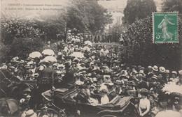 49 CHOLET 14 JUILLET 1910 COURONNEMENT D'UNE ROSIERE DEPART DE LA SOUS-PREFECTURE - Cholet
